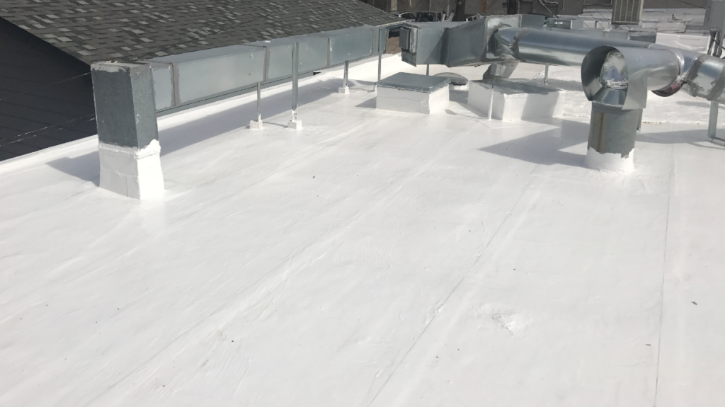gaco roof coating finished product